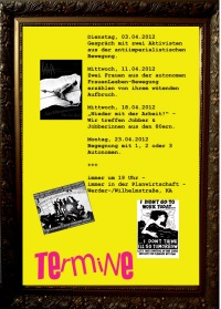 Termine | 80er-Veranstaltungsreihe