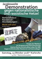 Landesweite Demonstration am 13. Oktober 2018 in Karlsruhe – Asylrechtverteidigen!